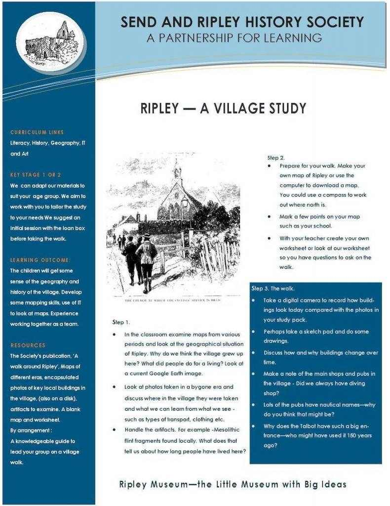 3. Ripley -village study-Send and Ripley History Society