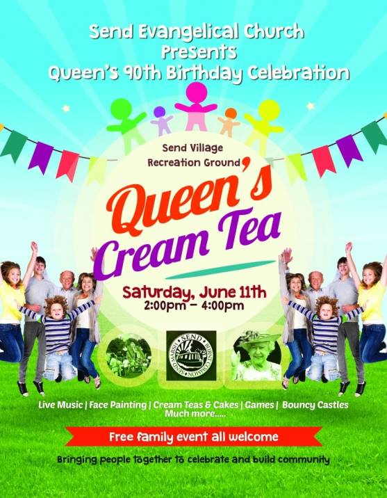 The Queen's Cream Tea on Send village recreation ground