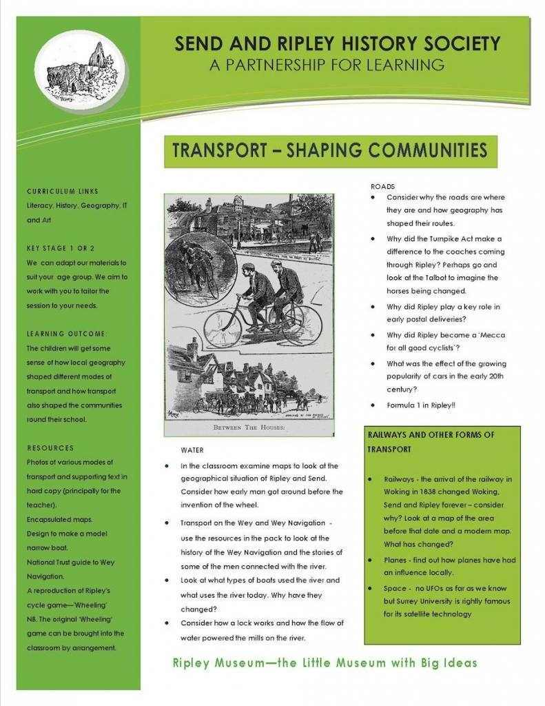 4. Transport -shaping communities