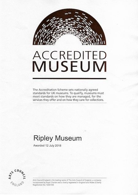 Ripley_Museum_accreditation-certificate