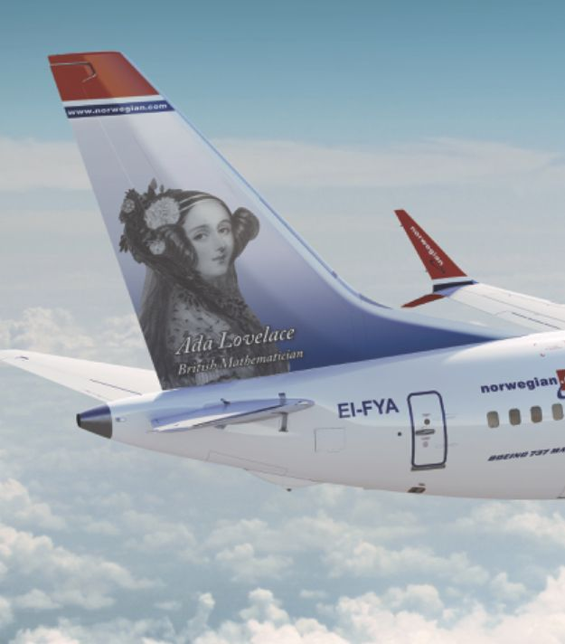 Norwegian Airways are currently featuring portraits of influential women on the tails of their planes.