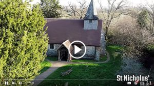 Video filmed with a drone at St Nicholas & Wisley Church